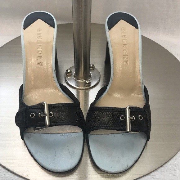 Givenchy Shoes - Givenchy Buckle Slide Architectural Heels